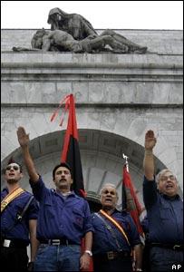 Acto político en el Valle de los Caídos, España