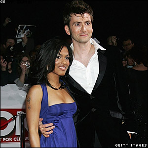 Actors Freema Agyeman (L) and David Tennant