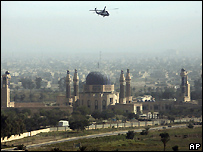 US helicopter flies over Baghdad