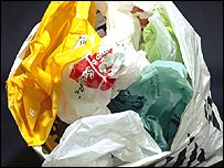Stash of plastic bags