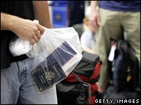 Plastic bags became officially sanctioned hand luggage after terror alerts last year