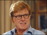 With Robert Redford