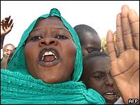 Manifestantes chadianos
