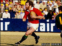 Ray Gravell playing for the British Lions against South Africa in July 1980