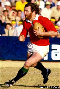 Ray Gravell playing for the British Lions against South Africa in 1980