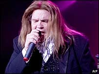 Meat Loaf performing earlier this year