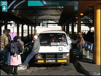 Cape Town bus station (David Goldblatt)