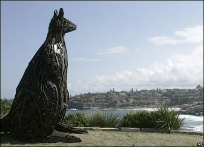 Wallaroo, a sculpture made from scrap metal by Nigel White