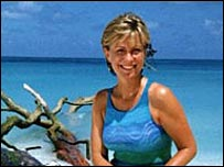 Jill Dando in the Seychelles for Holiday