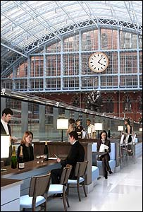 An image of the St Pancras Champagne bar