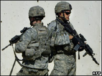 US soldiers in Baghdad (01/11/07)