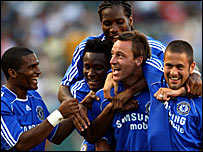 John Terry (centre) and his Chelsea team-mates