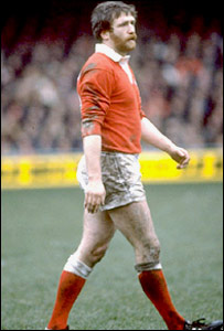 Ray Gravell during a 1981 Five Nations match