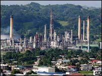 Refinery of state-owned Petroleum Company of Trinidad and Tobago  in Pointe-a-Pierre
