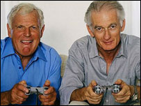 Old folk playing video game, BBC