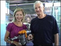 Sir James Dyson and Money Programme presenter Libby Potter