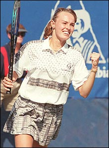 Martina Hingis in 1995