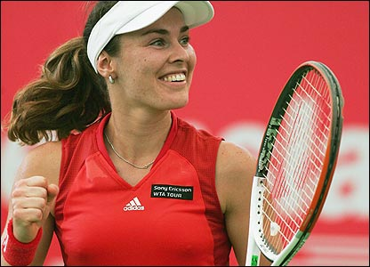 Martina Hingis in her comeback match, Gold Coast, January 2006