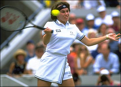 Martina Hingis winning the 1997 US Open final