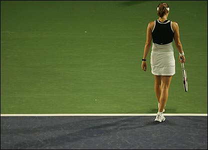 Martina Hingis losing at the China Open, 2007