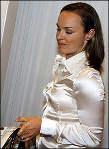 Martina Hingis shortly before announcing her retirement.