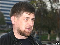 Chechnya's president, Ramzan Kadyrov, speaks to the media in Grozny on 1 November 2007