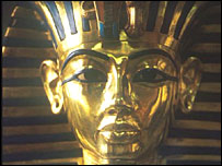 Tutankhamun death mask