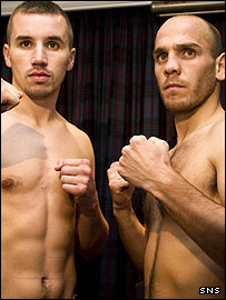 Kevin McIntyre and Kevin Anderson at the weigh-in