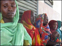 People missing children in Abeche, Chad