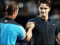 David Nalbandian and Roger Federer
