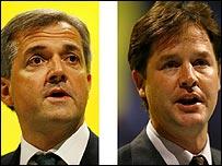 Chris Huhne and Nick Clegg