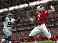 A screen grab from EA's Madden NFL 08