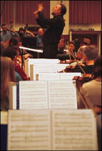 Conductor and orchestra, BBC