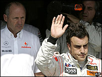 McLaren boss Ron Dennis and Fernando Alonso