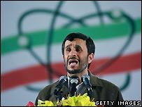 Mahmoud Ahmadinejad at Iranian nuclear enrichment facility at Natanz - 9/4/2007
