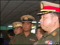Burmese military officials - 14/10/2007