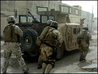 Polish and US troops in Iraq