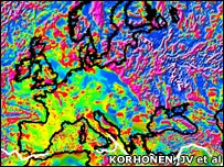 World Digital Magnetic Anomaly Map (Korhonen, J.V.)