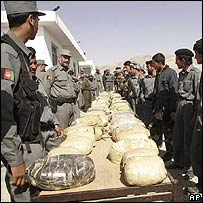 Opium on display in Herat