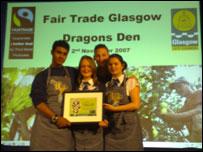 Pupils at Fairtrade event