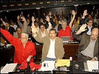 Venezuela's national assembly approves the reforms - 2/11/2007