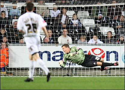 But Gillingham take an early lead when Delroy Facey fires past Swans keeper Dorus De Vries
