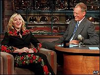 Madonna y David Letterman