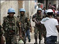 Sri Lanka peacekeepers in Port-au-Prince, Haiti