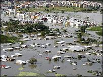 Vista aérea de Villahermosa