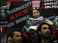 مظاهرات تركية معادية لامريكا