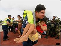 Operaci�n de rescate en Tabasco
