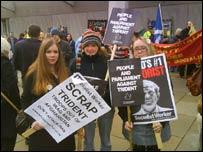 Anti-Trident protesters in Edinburgh