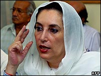 Opposition leader Benazir Bhutto