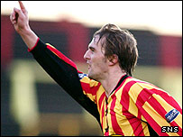 David Rowson celebrates with Thistle